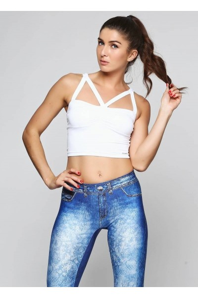Топ Cajubrasil CROPTOP JUST белый 7525/100