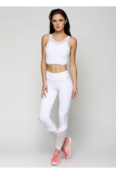 Легинсы Cajubrasil LEGGING TRAINING белые 6269/100