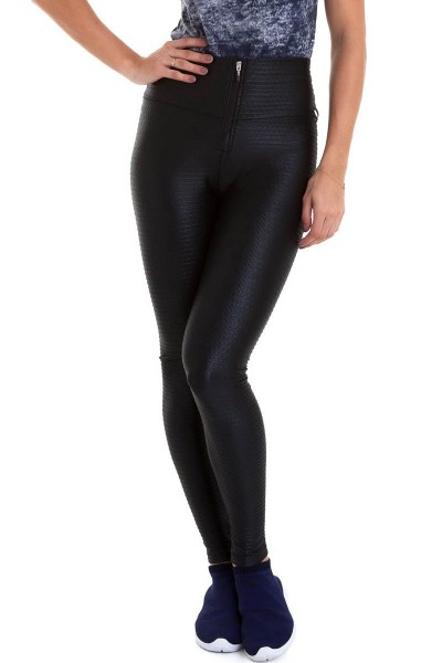 Легинсы Cajubrasil LEGGING LEATHER черные 9772/200