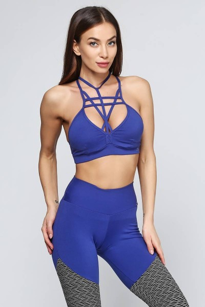 Топ Cajubrasil TOP STRAPPY BRA синий 6924/187