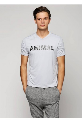 Футболка Cajubrasil T-SHIRT ANIMAL PRINT серая с принтом 4903/194